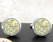 Cufflinks St Michaels Maryland Handmade Cuff Links City State Maps MD Groomsmen Wedding Party Fathers Dads Men