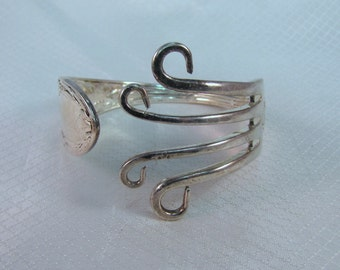 Artisan Crafted Silverplate Fork Bracelet