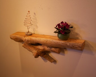 Rustic shelf - Wood shelf - Mantle shelf - Wood shelf - Log shelf