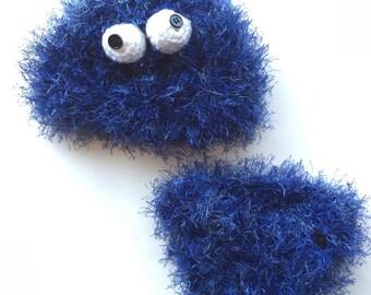 Handmade crochet Cookie Monster inspired outfit, Cookie Monster costume photo prop, baby Cookie Monster Halloween costume, crochet baby