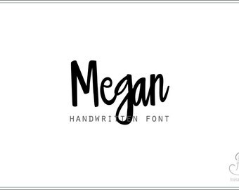 Megan Font download // OTF / TTF Open Type Fonts //Digital Download // Personal Use