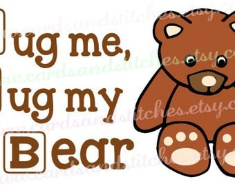 Baby SVG - Teddy Bear SVG - Baby Decor SVG - Digital Cutting File - Silhouette Cut - Vector - Instant Download - Svg, Dxf, Jpg, Eps, Png