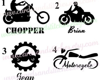 Motorcycle Decal - Vinyl Decal - Custom Motorcycle Decal - Yeti Decal OR Iron-on Transfer - Motorcycle Iron-on - DIY Iron-on Transfer