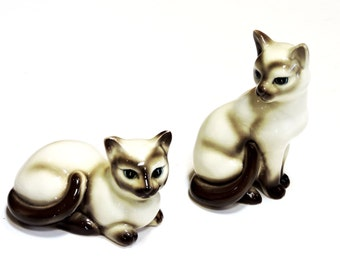 Siamese Cat Ceramic Salt and Pepper Shakers, Vintage EW Princess China, Made in Japan, Kitsch Home Decor, Cat Lover Gift itsyourcountry