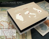 Anniversary Surprise Box, Travel Box, Paper Anniversary Gift, Custom travel box, Destination wedding box, Under 100, Valentines Gift Box
