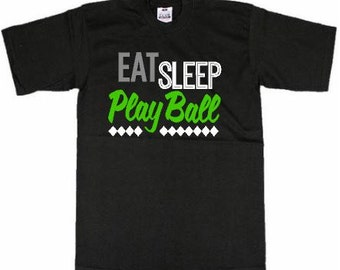 Men's T-Shirt - Play Ball - Green