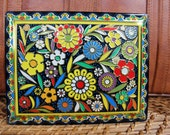 Vintage Cola Cao Floral Tin Box
