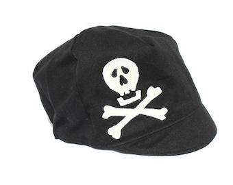 SALE*** Kids Pirate Hat- Skull Crossbones Hat, Organic Black - Boys - Baby Toddler or Child - S