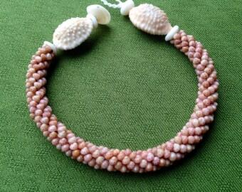 Shell Bracelet - Kahelelani Shell Bracelet - Nautical Bracelet - Beach Bracelet - Kauai Shells SeaShell Bracelet Puka Shell Jewelry Hawaiian