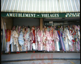 Paris Fabrics - Giclée Print from Holga Photograph, Color Film