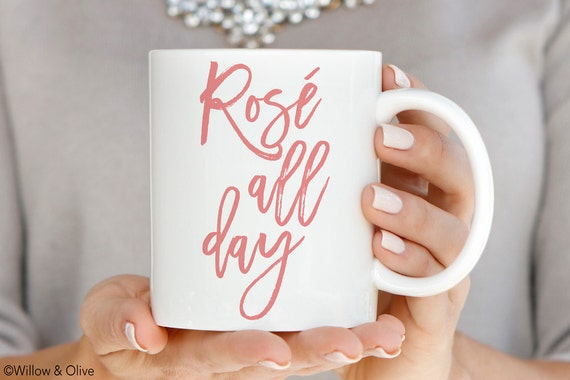 Rose All Day Wine Mug