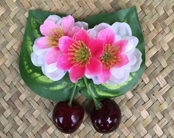 Cherry Blossom  Hair Clip Rockabilly Oasis Luau Caliente VLV Pinup