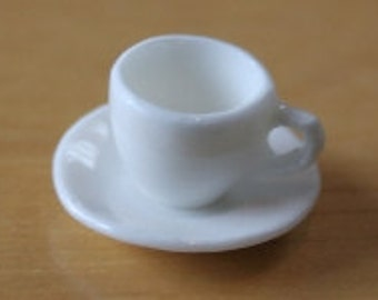 Dolls House Miniature Cup & Saucer