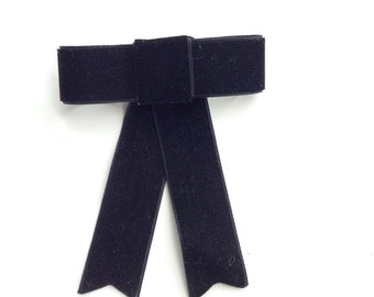 Black Velvet Bow brooch