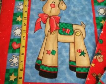 Baby's Christmas Accessories- Changing Blanket, Burping Cloth, Bib + Pillow *SHIP FREE*