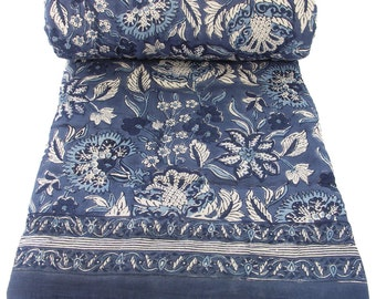 "Mini Reversible Quilt - Anatolia Blue - 45"" x 56"""
