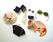 """Lot of Vintage Doll Items, """"My Dolly and I"""" Watch Card, Accessories"""