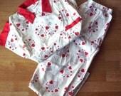 Vintage Van Heusen Valentine's Pajamas, Men's, Shirt and Pants, Excellent Condition, Heart Pajamas