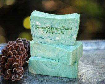 Christmas Soap, Christmas Eve Soap, Christmas Gift, Sugar Spruce, Christmas Soap Gift, Sugared Spruce, Sugar Cookies, Christmas Trees