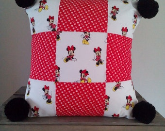 Disney Minnie mouse patchwork cushion