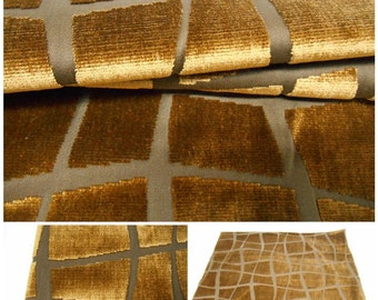 Kravet Couture-Silk Reflections -Truffle Velvet Fabric -Giraffe- W25in x 25in L