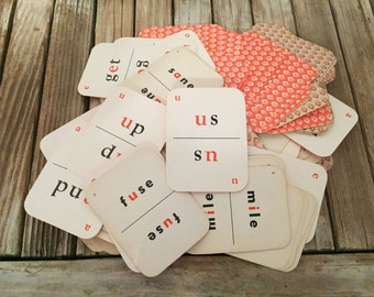 Vintage Sight Word Cards Phonics Cards