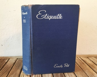 Vintage Emily Post Etiquette Book The Blue Book Of Social Usage