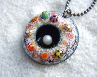 Barnacle Enamel Artisan Jewelry Necklace