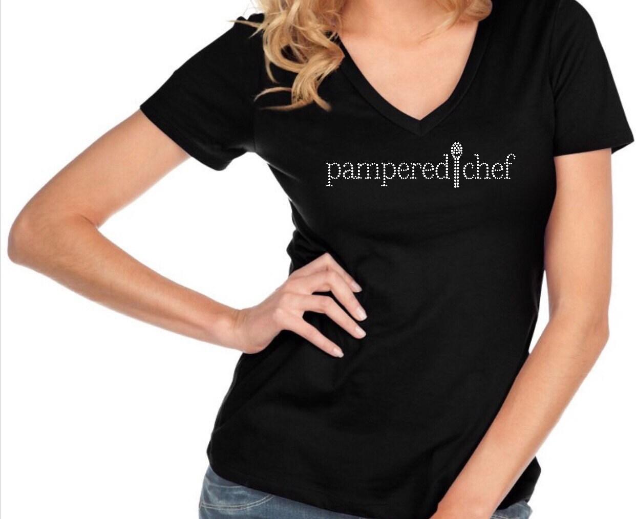 Bling Pampered Chef Custom Bedazzled Rhinestone Shirt