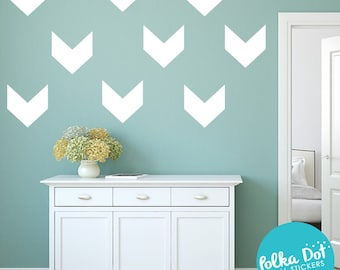Peel and Stick Chevron Wall Decals | Long Life | Apartment Safe - PAS049