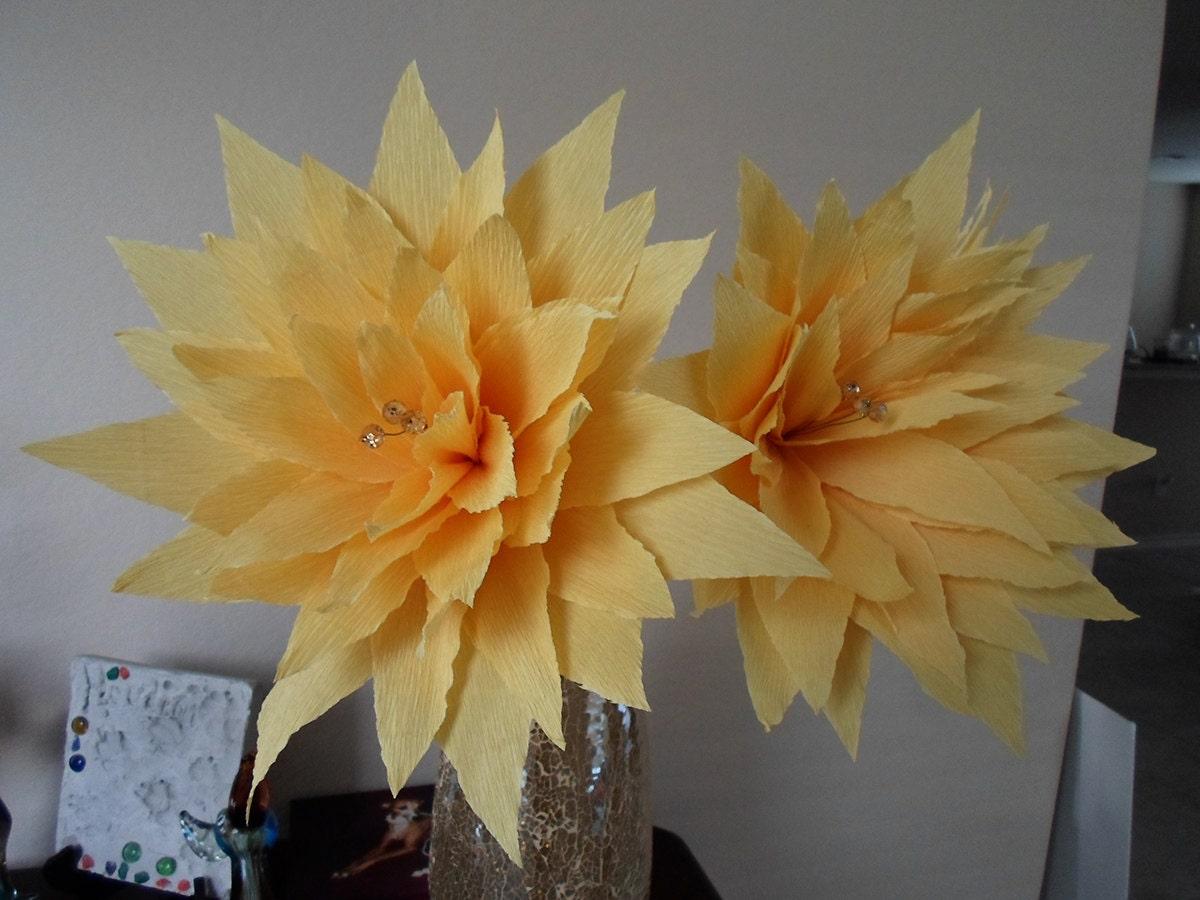 Set of 3 LARGE MEXiCAN CREPE PAPER FLOWERs by EncantoARTstudio
