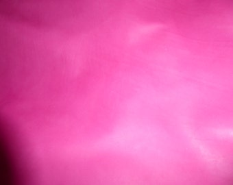 """Leather 12""""x12"""" CALFSKIN Raspberry Sorbet Smooth and Firm 2.5-3 oz / 1-1.2 mm PeggySueAlso™"""