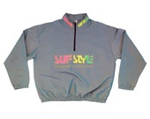 Rad 90s Neon Gray Iridescent Surf Style Jacket - OS / L