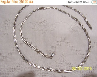 20 OFF EVERYTHING Vintage Braided Chain-necklace. Sterling silver.