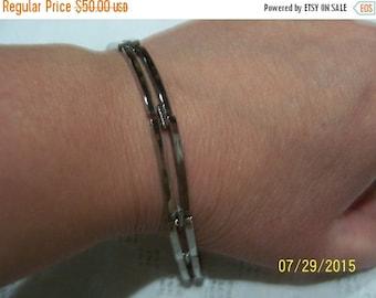 20 OFF EVERYTHING Vintage 7 Elongated Links bracelet. Sterling silver.