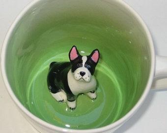 Boston Terrier, paw prints (In stock)