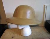 Vintage Safari / Pith Helmet. Costume Pith Helmet. Safari Costume.