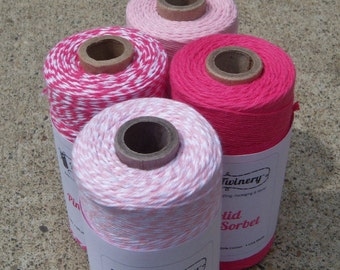 Bakers Twine - Divine Twine - 100% Cotton - Pink Blossom/Sorbet Pack - FOUR Colors - Your Choice of Amount