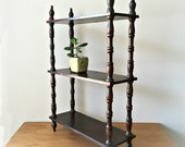 Wood Display Shelf Curio Shelves Rustic Wall Shelf
