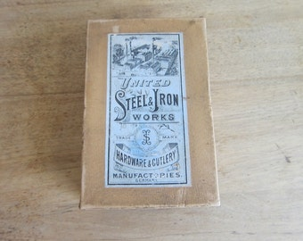 Vintage Advertising, Antique Advertising, United Steel and Iron Works Cutting Nippers Box