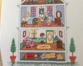Cross Stitch Mouse House Dollhouse Pattern Leaflet