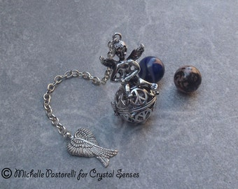 Angelic Interchangeable Sphere Dowsing Pendulum (DP0331b)