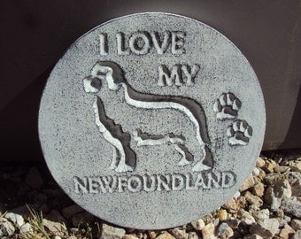 Newfoundland, Handmade Engraved Stone Wall Hanging, Inside Outside