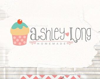 Premade cake logo - logo pre made - sweet logo - premade branding - bakery logos - bakery branding - cupcake logo
