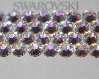 Swarovski Crystal Clear AB 2038 / 2078 flatback Hotfix (with Glue) Iron On rhinestones - Free Shipping