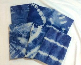 Organic Cotton Indigo Shibori Dyed Burp Cloths