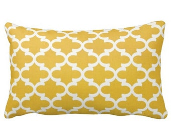 Yellow Pillows, Yellow Throw Pillows, Decorative Pillows, Yellow Trellis Pillow Covers, Lumbar Pillows, Citrus Pillows, Bright Pillows