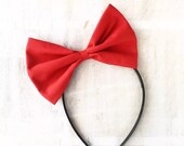 Red oversized bow headband Rockabilly Pin up girl Snow White