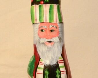 Cypress Knee Santa Claus Holly Trim