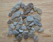 Lot of 50 Plus Flat Angular Beach Stones Lake Michigan Stone Craft Supplies